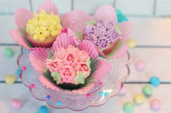 Spring Ice Cream Cupcakes wallpaper, Food and Drink, Colorful, Easter, Season