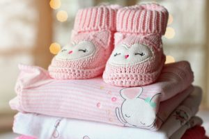 Toddler's pink knitted boots wallpaper, booties, baby, girl, baby girl