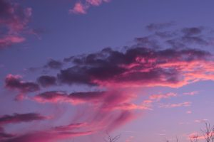 Sky wallpaper, sunset, clouds, pink, neon, purple, pastel, fading, wild