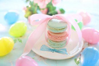 Easter wallpaper, macarons, pastels, cookies, biscuits, pastries, sweet food