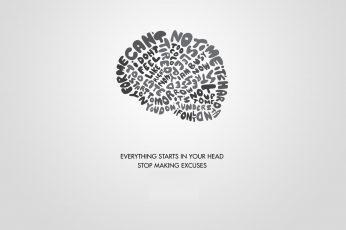 Gray and black wallpaper, procrastination, brain, motivational