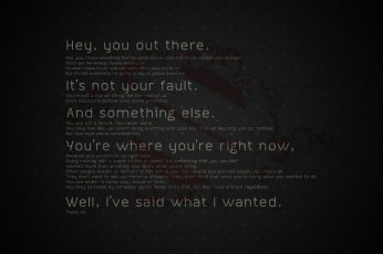 Hey wallpaper, you out there text on black background, motivational, typography