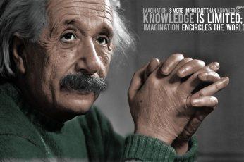Albert Einstein wallpaper quote, one person, portrait, headshot, mature adult