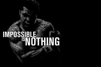 Muhammad Ali illustration wallpaper, monochrome, typo, quote, typography