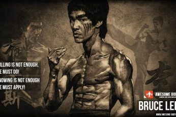 Bruce Lee wallpaper, working out, skinny, quote, motivational