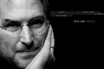 Steve Jobs quote wallpaper, inspirational, motivational, monochrome, portrait