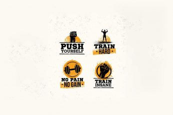 Four motivational quotes wallpaper, Pain & Gain, movies, bodybuilding