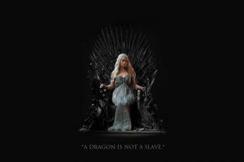Daenerys Targaryen wallpaper, women's gray sleeveless dress, Emilia Clarke