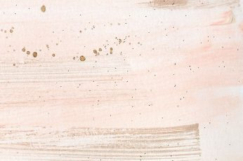 Rose gold wallpaper, pattern, desk, sparse