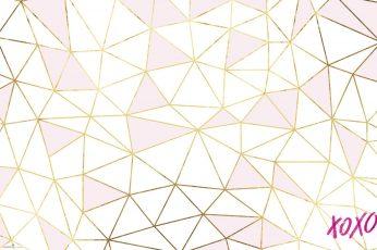 Rose gold wallpaper, pattern, abstract, design, shape