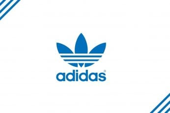 Adidas logo wallpaper, text, blue, western script, communication