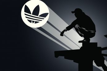 Adidas wallpaper, Slav squat, gopnik, sign, silhouette, one person, communication