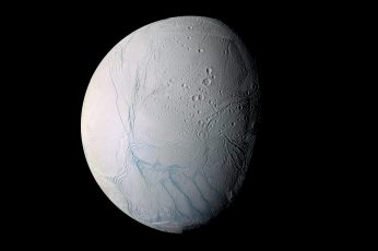 Gray moon wallpaper, planet, Enceladus, Solar System, Saturn's moon