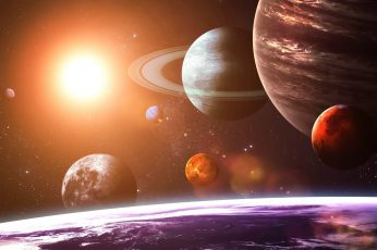 Formation of planets illustration wallpaper, space, Solar System, space art