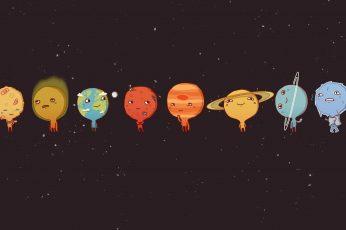 Planet digital wallpaper, space, Sun, Venus, Mercury, Earth, Mars