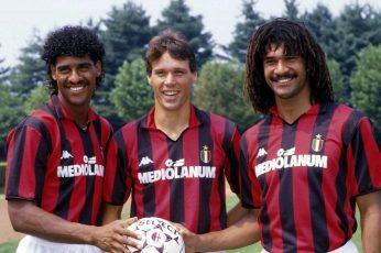 Footballers wallpaper, soccer, men's red and black Kappa Mediolanum jersey,