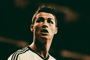 Cristiano Ronaldo wallpaper, Real Madrid, men's white Adidas jersey shirt,