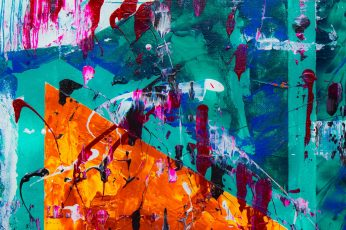 Teal wallpaper, Orange, And Red Abstract Painting, abstract expressionism