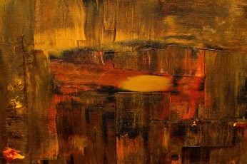 Close-up of brown and red abstract painting wallpaper, art, texture, background