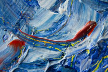 Blue, Yellow, and Red Abstract Painting, abstract expressionism wallpaper