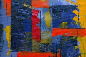 Blue Red and Yellow Abstract Painting wallpaper, abstract expressionism