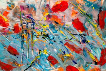Multicolored Abstract Painting HD wallpaper, abstract expressionism