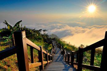 Nature, bridge, sky, city, travel, landscape, river, architecture