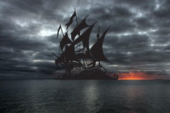 Pirate ship vector wallpaper, The Pirate Bay, cloud – sky, water, sea, storm