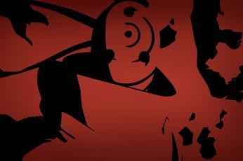 Naruto Shippuuden wallpaper, Tobi, anime vectors, Uchiha Obito, silhouette