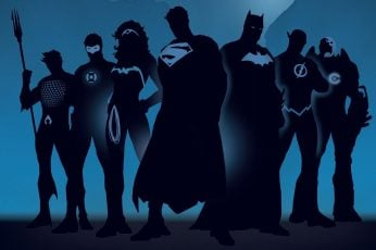 Justice League wallpaper, silhouette of Justice League wallpaper