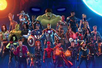Marvel Super Heroes wallpaper, fan art, Stephen Byrne, Marvel Cinematic Universe