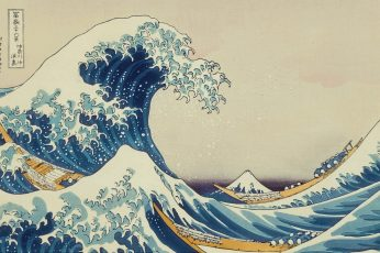 The Great Wave off Kanagawa painting wallpaper, waves, Japanese, classic art