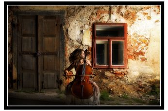 Woman playing cello painting wallpaper, portrait, person, face, cat, eyes