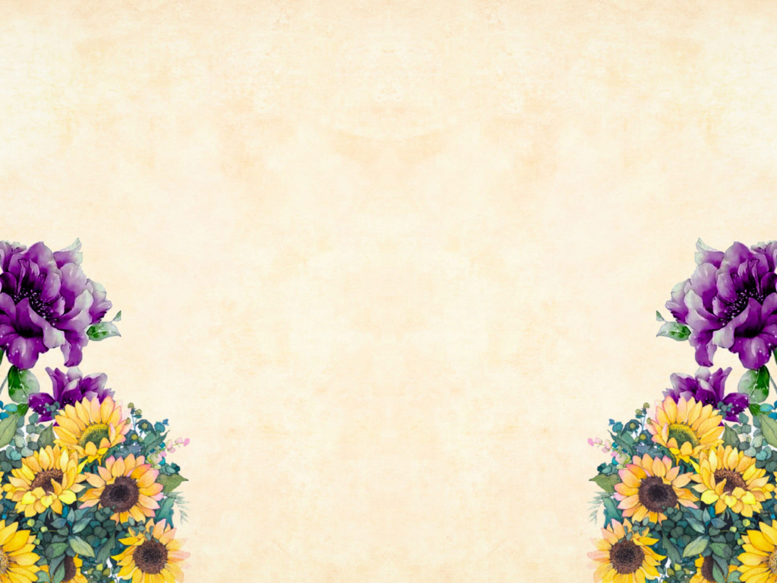vintage wallpaper purple and yellow flowers on corners of light wallpaper watercolor wallpaper for you the best wallpaper for desktop mobile vintage wallpaper purple and yellow
