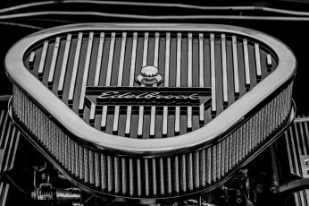 Greyscale photography of Edelbrock air filter wallpaper, car, vehicle