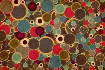 70's Design wallpaper, assorted-color polka-dot lot illustration, Vintage