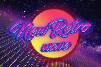 New Retro wave text wallpaper, Retro style, 1980s, digital art, neon, vintage
