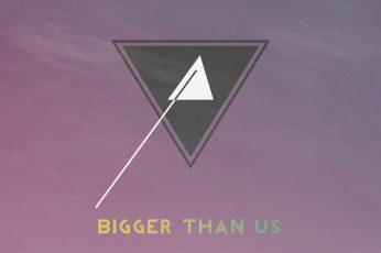 Bigger than us wallpaper, abstract, modern, vintage, minimalism