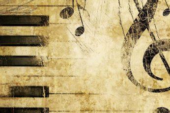 Keys wallpaper, treble clef, notes, music, piano, wall, texture, antique