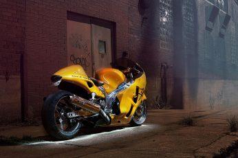 Suzuki GSXR Hayabusa wallpaper, yellow sports bike, motorcycles, 2560×1600