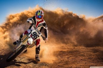 White and black motocross dirt bike wallpaper, motorcycle, dirt bikes, sport