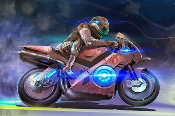Brown sports bike illustration wallpaper, futuristic, Moto GP, vehicle
