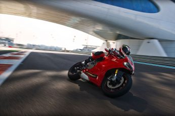 Red Ducati sports bike wallpaper, motorcycle, Ducati 1199, transportation