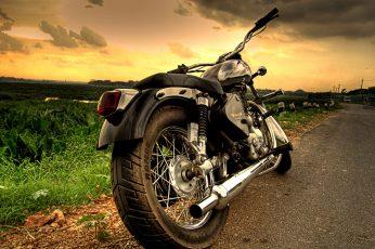 Silver cruiser motorcycle wallpaper, Royal Enfield, motorbike, hdr, bangalore