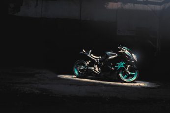 Blue and black sports bike photography wallpaper, Suzuki, Hayabusa, superbike