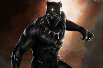 Marvel Black Panther digital wallpaper, Marvel Cinematic Universe