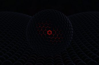 Orb wallpaper, abstract, 3D Abstract, glowing, dark, red, 3d design
