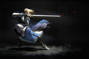 Fate Stay Night Saber digital wallpaper, anime, anime girls, Fate Series
