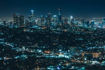 Metropolitan area wallpaper, cityscape, skyline, los angeles, metropolis