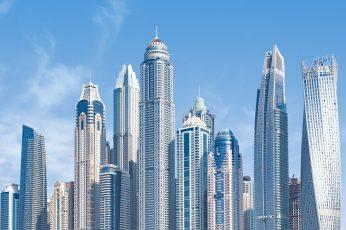 Dubai wallpaper, united arab emirates, uae, skyscraper, skyline, building